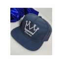 Crown Letter Embroidered Street Style Unisex Outdoor Baseball Cap