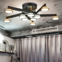 Acrylic  Ceiling Lights Contemporary Industrial In Black/White
