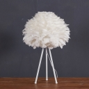 Feathers Tripod Table Lamp
