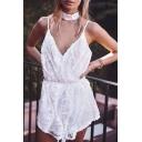 New Fashion Spaghetti Straps Sleeveless Chic Lace Inserted Mini A-Line Slip Dress