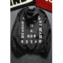 New Fashion Letter Printed Hooded Long Sleeve Zip Up Sun Coat for Couple