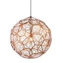 Etched Pendant Light Copper 20 Inch