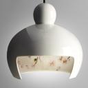 Ceramic  Pendant Light Japanese Sakura White