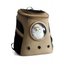 New Stylish Canvas Capsule Design Breathable Portable Outdoor Pet Backpack