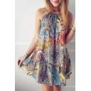 New Fashion Boho Style Sleeveless Holiday Beach Mini Slip Dress