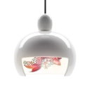 Ceramic Pendant Light Japanese White