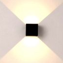 Black Wall Sconce Square Modern 4''