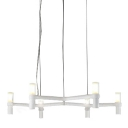 Candelabra Crown Chandelier Modern, White 6-Lt