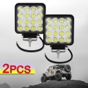 4.3 Inch LED Work Light 48W Cree LED High Intensity Light 4-Row Flood Beam For Off Road 4WD Jeep Truck ATV SUV Pickup Boat, 2 Pcs