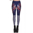 Digital Letter Printed Elastic Waist Hot Fashion Yoga Sports Leggings