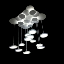 LED Branch Plate Hanging Pendant Light 33'' Width