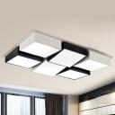 Cube Shape Ceiling Light Popular Acrylic 6 Lights