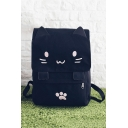 Lovely Cartoon Cat Pattern Leisure School Backpack