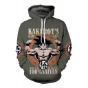 Drawstring Hooded Cartoon Graphic Printed Long Sleeve Hoodie Sweatshirt