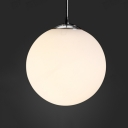 Frosted Glass Ball Pendant Light 1 Light