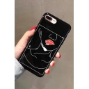 Funny Red Lips Girl Printed Fashion Mobile Phone Case for iPhone