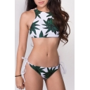 New Stylish Reversible Bamboo Printed String Sides Bikinis