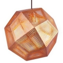 Etched Pendant Light Diamond Copper Grand