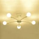 Modern Chandelier Sputnik Style, 5 Lights