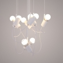 LED Postmodern Aluminium Suspension Light 8 Lights