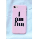 New Fashion Letter Printed Frosted iPhone Case for Couple