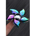 New Fashion Bauhinia Design Colorful Alloy Fidget Spinners for Gifts