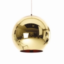 Chrome Ball Pendant Light Copper/Gold/Silver 12