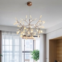 LED Wire Branch Structure Chandelier, 63 Lights
