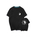 New Arrival Round Neck Short Sleeve Printed Casual Sports Tee