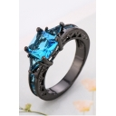Hot Fashion Chic Luxurious Ring with Blue Diamond