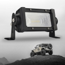 7D+ 5 inch LED Work Light Bar 54W OSRAM 150 Degree Flood Beam for Offroad 4x4 Jeep Truck ATV SUV 4WD Pickup Boat