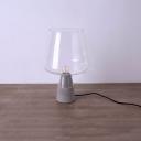 Concrete Glass Table Lamp