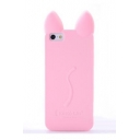 Adorable Cat Ear Shaped Plain Soft Case for iPhone
