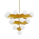 Globe Chandelier 19-Light White