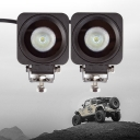 2 Inch LED Work Light 10W Cree LED Flood Beam For Off Road 4WD Jeep Truck ATV SUV Pickup Boat Pack of 2