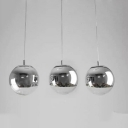 Ball Multi-Light Pendant Mirror Silver