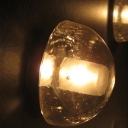 Semi Globe Glass Mounting Plate Wall Sconce
