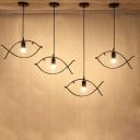 Fish LED Pendant Light Iron, 4 Lights