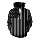 Hot Fashion America Flag Pattern Long Sleeve Casual Unisex Hoodie