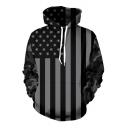 Hot Fashion America Flag Pattern Long Sleeve Casual Unisex Hoodie