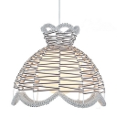 Knitting Style Pendant Light with Dome Shade, 14'' Width