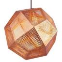 Etched Pendant Light Diamond Copper Mini