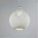 Rattan Ball Pendant Light 16'' Width, 4 Color Options