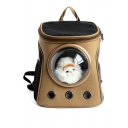 Hot Fashion Canvas Space Capsule Design Outdoor Portable Pet Backpack