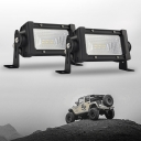 7D+ 5 inch LED Work Light Bar 54W OSRAM 150 Degree Flood Beam for Offroad 4x4 Jeep Truck ATV SUV 4WD Pickup Boat Pack of 2