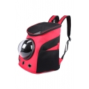 New Collection Color Block Space Capsule Outdoor Portable Pet Backpack