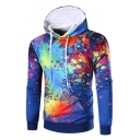 3D Splash-Ink Pattern Long Sleeve Chic Casual Leisure Hoodie