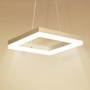 Square LED Suspension 8''