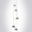 Cascade Glass Ball Pendant Light 5-Light