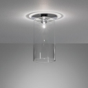 "Glittering Glass Designer Semi-Flush Mount Ceiling Light In 9""Height"
